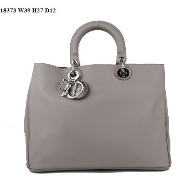 """Top Quality Light Grey Women's Dior """"Diorissimo"""" Nappa Leather Bag In Bag Top Handle Totes"""