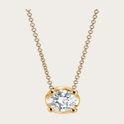Bvlgari Corona Crystal Pendant Necklace Yellow Gold Plated Classy Jewelry Wedding Gift For Women CL188304