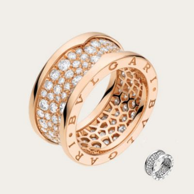 Bvlgari B.Zero1 Crystals Band Silver/ Rose Gold Plated 2018 Newest Fashion Women Jewelry America Wholesale An855552/An855553