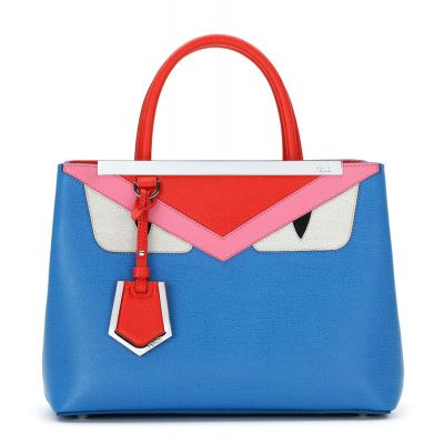 Fendi 2Jours Red Top Handle Monster Pattern Ladies Petite Blue Leather Shoulder Bag Price Malaysia