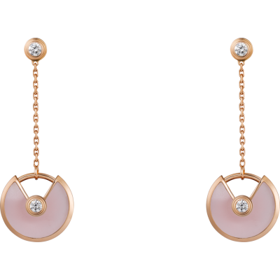 New Styles Cartier Amulette de Cartier Diamonds Design Rose Gold XS Model Earrings Imitation B8301231