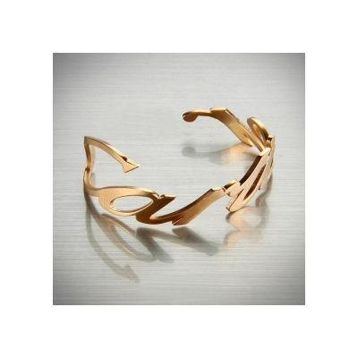 Wholesale Cartier Twisted Narrow Rose Gold Plated Cuff Retro Style Valentine Gift For Girls