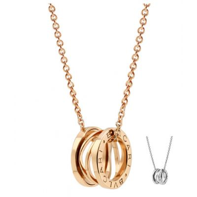 Bvlgari B.Zero1 Design Legend Necklace Silver/ Rose Gold Plated Latest Design Modern Style Lady Jewelry 353795 CL858069