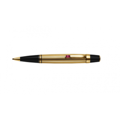 MontBlanc Boheme Gold-Plated & Black Resin Smooth Writing Jewelry Ballpoint Pen MT020