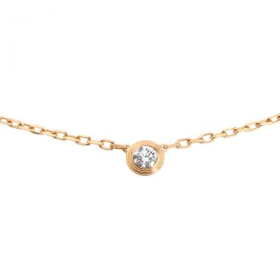 Cartier Diamants Legers Necklace Fake B7215700 Rose Gold Wedding Jewellery Same With Real