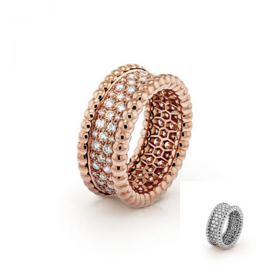 Van Cleef & Arpels Perlee Diamonds Ring Replica Wedding Band Party Style Online Shop VCARN9WE00 VCARN9Q000