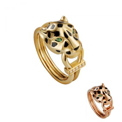 Panthere de Cartier Crystals Ring B4096700 B4221400 Three Colors In Stock Creative Chic Design
