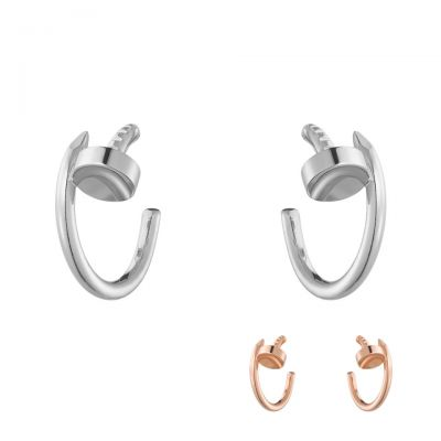 Cartier Juste Un Clou Hoop Earrings B8301236 B8301234 White / Rose Gold Fashion Celebrities Wearing