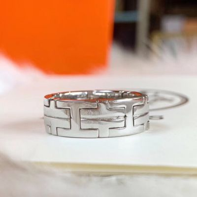 Simple Style Hermes Hercules High Quality 925 Sterling Silver Unisex H Logo Motif Design Faux Ring For Sale Online