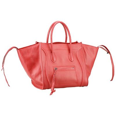 Celine Phantom Red Good Reviews Spring  Leather Tote Bag Leather Trimmings