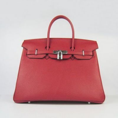 AAA Quality Red Togo Leather Hermes Silver Hardware Ladies Birkin Flap Tote Bag Paris Price