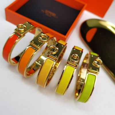 High Quality Hermes Collier De Chien Yellow Gold Plated & Enamel Popular Collar Charm Bangle For Ladies