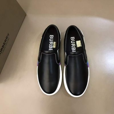 Replica 2021 Top Sale Gucci Black High End Cow Leather White TPU Sole Colorful Striped Trimming Leisure Shoes For Mens UK