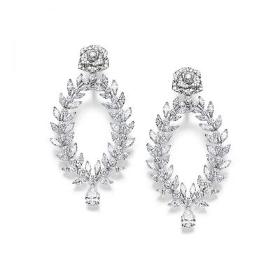 Piaget Rose Passion Luxury Earrings USA Delicate Jewelry Laurel Branches Design Replica