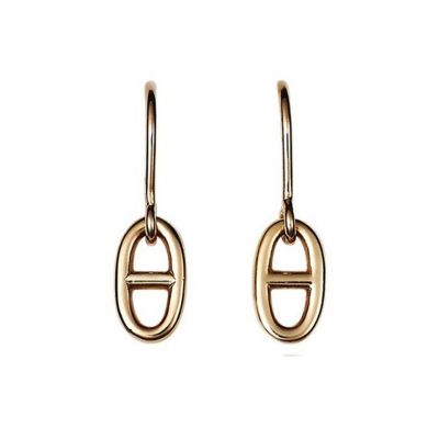 Hermes Chaine d'ancre Farandole Pendant Ear-drops 18K Pink Gold 2018 Newest Women Gift Price Malaysia H109065B 00
