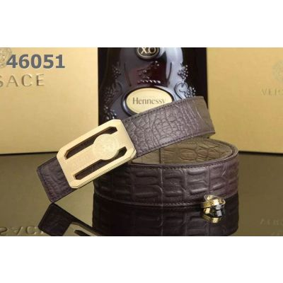 High Quality Versace Croco Printing Leather Mens Belt With Logo Embossed Pin Buckle 38mm Multicolor