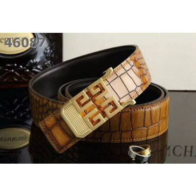 Hot Selling Givenchy Muticolor Fire Cracks Embossed Leather Guy Reversible Belt With Latest Logo Pin Buckle