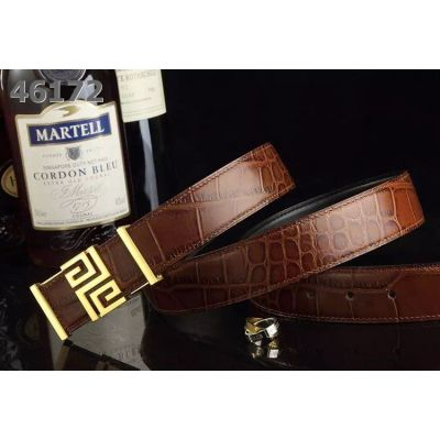 Givenchy Latest Logo Pin Buckle Party Style Croco Embossed Leather Guy Fake Leisure Belt Online