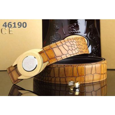 Versace Good Quality Multicolor Fire Cracks Embossed Leather Strap Logo Pattern Two-tone Pin Buckle 32mm
