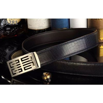 Cheapest Givenchy Business Style Mens Snake Embossed Ratchet Belt With Popular Automatic Buckle Multicolor