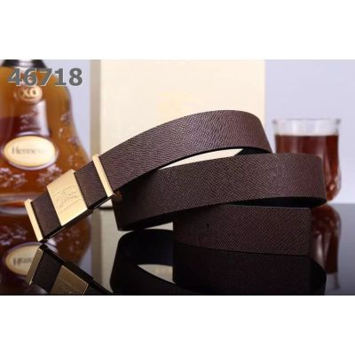Good Reviews Burberry Logo Anchor Snap On Buckle Veins Leather Strap Mens Fake Belts Black/Brown