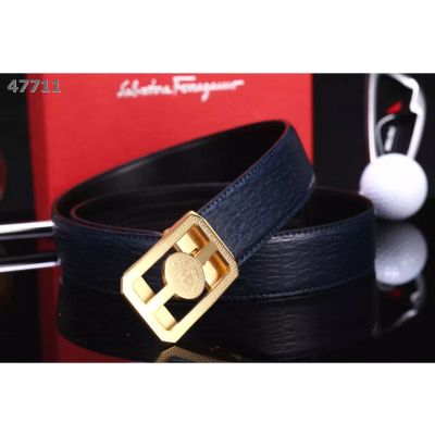 Flawless Versace Logo Embossed Automatic Buckle Smooth & Textured-leather Reversible Male Multicolor Belt Replica