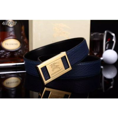 Burberry High End Shark Veins Cowhide Mens Belt With Popular Plaque Logo Pin Buckle Multicolor