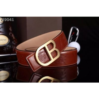 """Burberry Large """"B"""" Pin Buckle Good Quality Logo Pattern Leather Strap Casual Belt For Boy"""