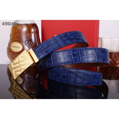 Givenchy 35MM Croco Embossed Leather Strap Classic Plaque Slid Buckle Guy Dress Belt Price Malaysia
