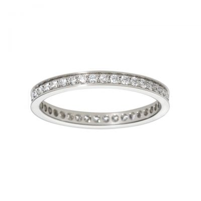 Top Sale Cartier Ballerine Wedding Band Imitation B4072000 Quality Sterling Silver Diamonds Engagement Ring