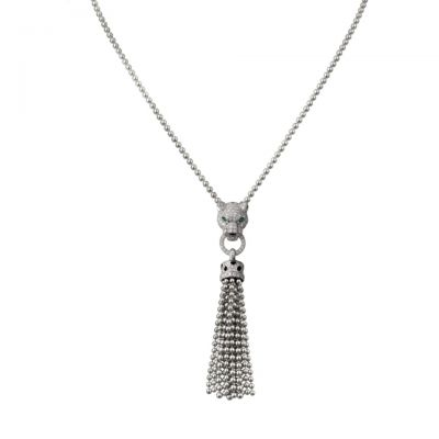 Panthere de Cartier Necklace N7424122 Sterling Silver Diamonds High Jewellery Replacement London Sale