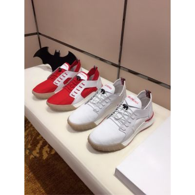 Balenciaga Top Styles Breathable Meshes & High -end Leather Patchwork Lace-up Sneakers For Boys White/Red