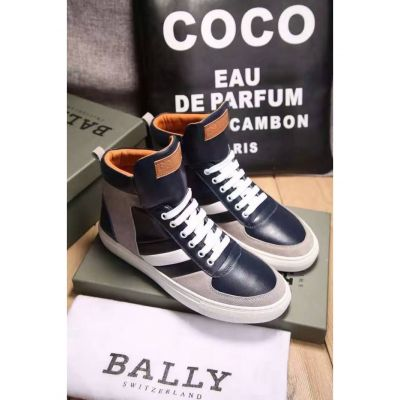 Good Reviews Bally Trainspotting Stripe Design Gray Suede Leather & Black Leather Patchwork Mens Fall Lace-up Sneaker