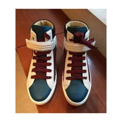 Unisex Hermes Rubber Outsole Calfskin Leather Lace-Up Lions Sneakers For Spring / Fall Three Color