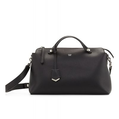 Classic Black Fendi By The Way Large Zipper Satchel Bag Silver Hardware For Ladies 8BL1251D5F0GXN