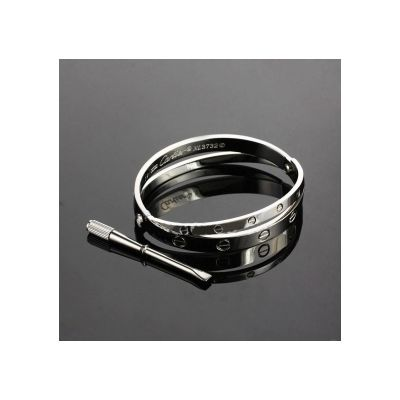 Cartier Love Bracelet White Gold Plated On Stainless Steel Quality Bangle Sale