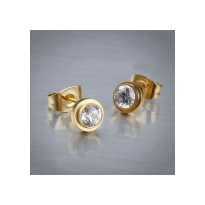 Cheap Wedding Bands Cartier Or Tiffany Replicas CLB130 Gold Plated Rhinestones Stud Earrings
