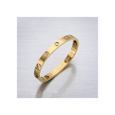 Cartier Or Tiffany Wedding Bands Replicas Yellow Gold With Diamonds Love Bracelet Online