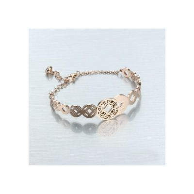Low Price Platinum Cartier LOVE Wedding Bands Replicas Rose Gold Plated Bracelet Cutout Round Link