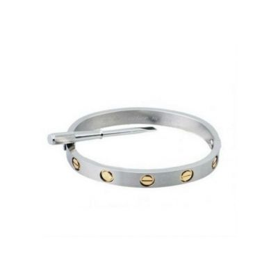 Perfect White Gold Cartier Love Collection Bracelet Replica Yellow Gold Screws UK Sale
