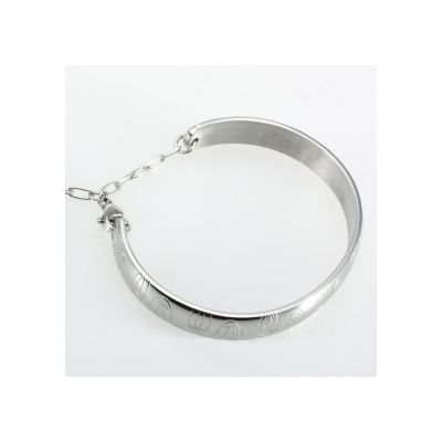 C de Cartier Double C Motif Charm Bracelet Fake 18K White/Yellow Gold Plated Stainless Steel