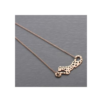 Cartier Panther Charm 2014 Limited Edition Necklace Replica Rose Gold Running Leopard