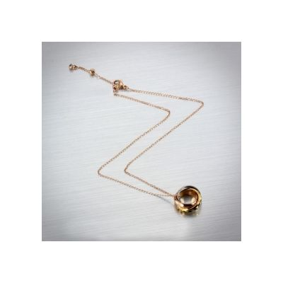 Cartier Trinity Interlaced Circles Pendant Necklace Rose Gold Chain Hot Sale Fine Women Jewelry