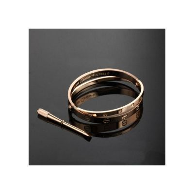 Cartier Love 18kt Rose Gold Plated Engagement Bracelet Jewellery Discounted Two-in-one Bangle