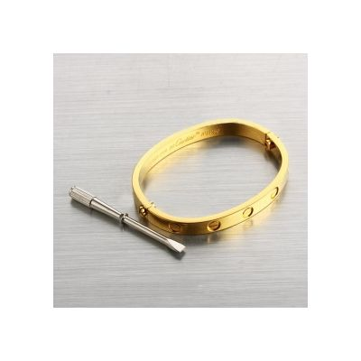 Cartier Love Bangle Oval Shaped Yellow Gold Plated For Sale With Screwdriver
