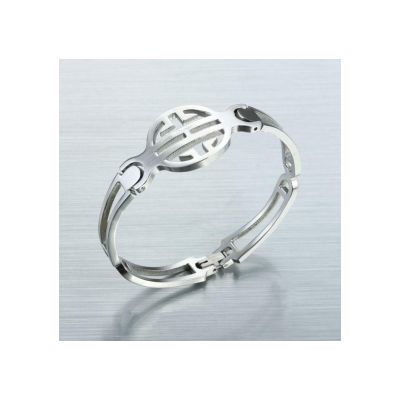 High Fake Cartier Love Band Cutout Stainless Steel Bracelet In Silver Nice Price Wedding Jewelry