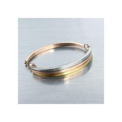 Cartier Love Bracelet Replicas Cheap Trinity In Three Color Gold Band Bangle