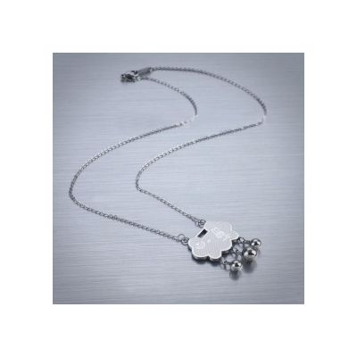 Best Replica Cartier Satinless Steel Necklaces Blessing Lock Pendant For Sale Online