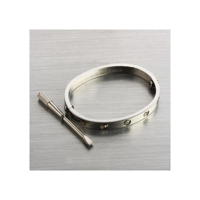 Cartier Love Bracelet Oval 18k White Gold Plated Replica Quality Choice Same With Real One