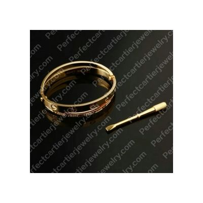 AAA Quality Cartier Love Bracelet 18K Yellow Gold Diamonds Bangle Jewelry UK Cheapest Price